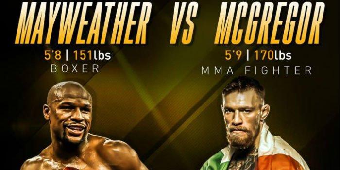 mayweather mcGregor boksen