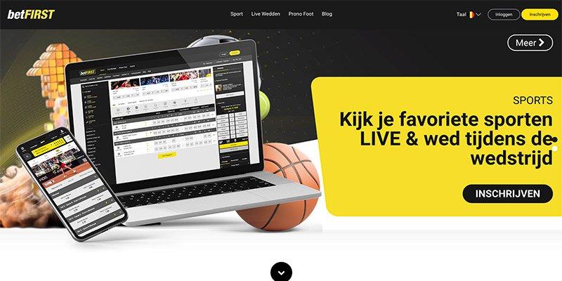 betFIRST homepage