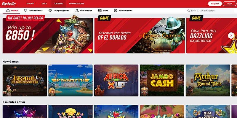 het online casino van betclic