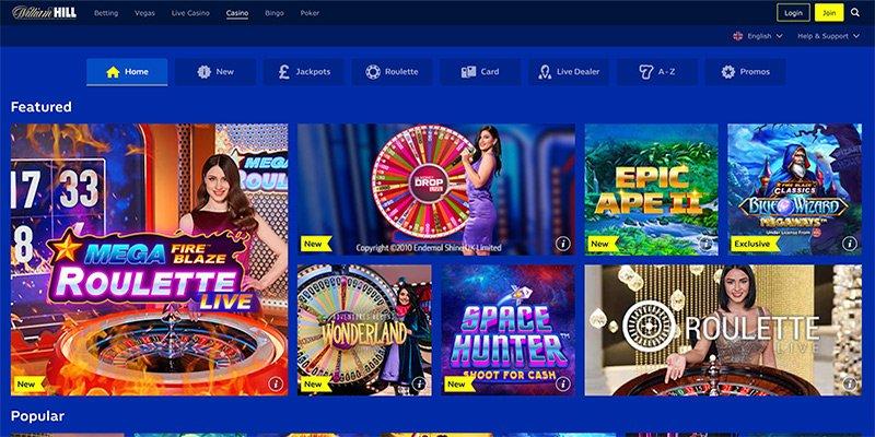 het online casino van william hill