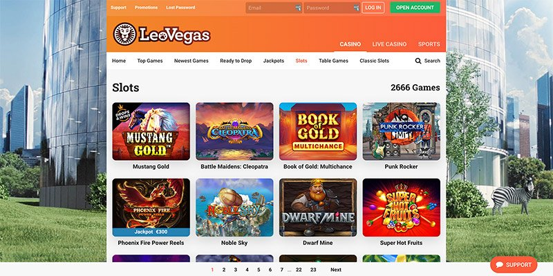 online casino van leovegas